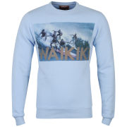 Osaka Men's Waikiki Photo Print Crew Neck Sweatshirt - Sky