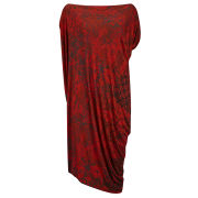 Vivienne Westwood Anglomania Women's Morph Jersey Drape Dress - Red
