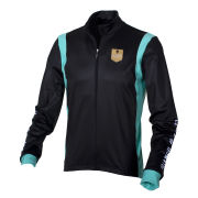 Bianchi Men's Valsura Long Sleeve Full Zip Jersey - Black/Celeste