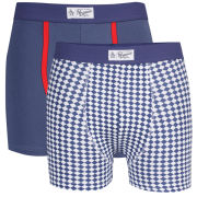 Original Penguin Men's 2-Pack Trunks - Blue and White Check/Blue