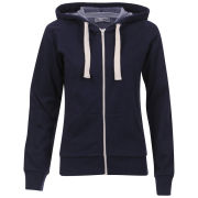 Brave Soul Women's Adrian  Hooded Zip Through - Navy