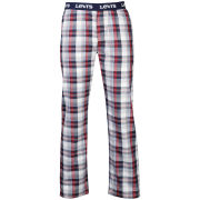 Levi's Men's Hilltop Loungepants - Navy/Red Check