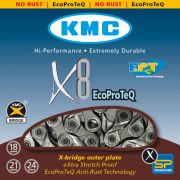 KMC X8 Eco Pro Teq Chain - 116 Links - Silver