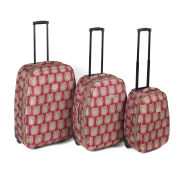 Constellation 4 Piece Luggage Set with Owl Print Design