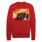 Star Wars Christmas Jawas Christmas Tree Sweatshirt - Red