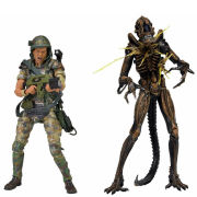 "Aliens 7"""" Action Figure 2Pk Hudson Vs Brown Warrior"