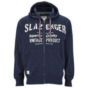 Slazenger Men's St. John Zip Thru Applique Hoody - Navy