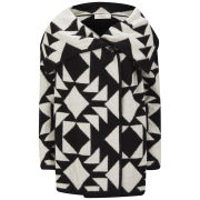 Paul by Paul Smith Women's Heavy Knit Blanket Cardigan - Black/White