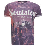 Soul Star Men's Chirigo T-Shirt - Burgundy