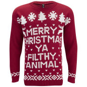 Influence Women's Merry Christmas Jumper - Red