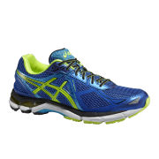 Asics Men's GT-2000 3 Structured Cushioning Running Shoes - Blue/Flash Yellow/Atomic Blue