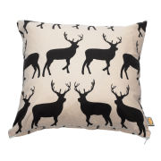 Anorak Kissing Stags Cotton Cushion
