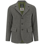 Nigel Cabourn Men's Business Wide Herringbone Wool Jacket - Gunmetal