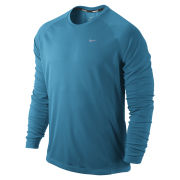 Nike Miler Running Long Sleeve Top - Blue