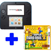 Nintendo 2DS Black & Blue: Bundle includes New Super Mario Bros. 2