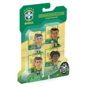 SoccerStarz - Brazil 4 Player Blister Pack A - Toy Figure One Size Brazil Pack A