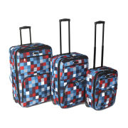 Ultimate Products 3 Piece Blue Square Eva Luggage Set