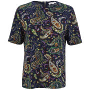 Glamorous Women's Paisley Print Top - Purple