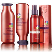 Pureology Reviving Red Shampoo (250ml) Conditioner (250ml) & Illuminating Caring Oil (125ml) (Bundle)