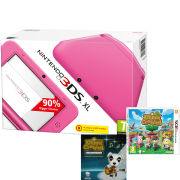 Nintendo 3DS XL Pink Console With Animal Crossing: New Leaf + FREE CD