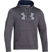 Under Armour Men's Af Storm Big Logo Hoody - Carbon Heather/Scatter/High-Vis Yellow