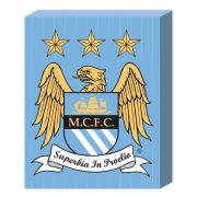 Manchester City Club Crest - 50 x 40cm Canvas
