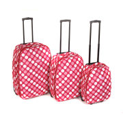 Ultimate Products 3 Piece Spot Print Luggage Set