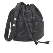 BOSS Orange Women's Reiko Leather Bucket Bag - Black