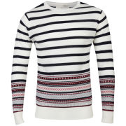 Brave Soul Men's Hugo Jumper - Ecru