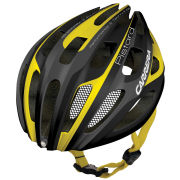 Carrera Pistard 2014 Road Helmet with Rear Light - Matt Black/Yellow