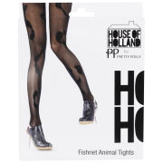 House of Holland for  	Pretty Polly Women's Animal Fishnet Tights - Black - One Size