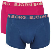 Bjorn Borg Seasonal Solids Men's 2 Pack Boxer Shorts - Geranium
