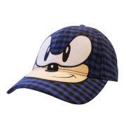 Sega Sonic The Hedgehog Face Chequred Baseball Cap