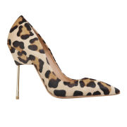 Kurt Geiger Women's Britton Leopard Print Stiletto Heeled Shoes - Nude