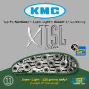 KMC X10 Super Light Diamond Like Coating Chain - 116 Links - Black/Blue