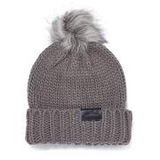 Urbancode Faux Fur Pom Pom Beanie Hat - Taupe