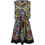Marc by Marc Jacobs Women's Jungle Print Dress - Black Multi Print