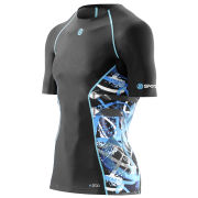 Skins A200 Active Compression Short Sleeve Top - Black/Graffiti