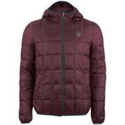 Antony Morato Men's Quilted Hooded Jacket - Bordeaux