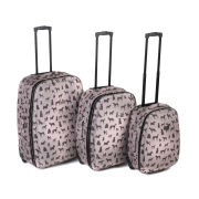 Constellation 4 Piece Luggage Set with Dog Print Design