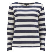 A.P.C Women's Striped Sailor Top - Marine