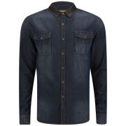 Soul Star Men's Roadster Denim Shirt - Blue
