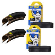 Continental Grand Prix 4000S II Clincher Road Tyre Twin Pack with 2 Free Tubes - Black - 700C x 23mm