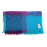 Avoca Mohair Brittas Throw (142 x 100cm) - Turquoise/Pink/Purple