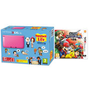 Nintendo 3DS XL Pink Console - Includes Tomodachi Life & Super Smash Bros.