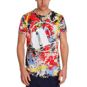 Mas-if Men's Paint Splat T-Shirt - Multi