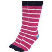 Joules Women's Fabulously Fluffy Socks - Hope Stripe