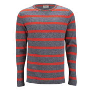 Jack & Jones Men's Phone O-Neck Jumper - Poppy Red