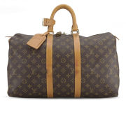 Louis Vuitton Vintage Leather Keepall 45 Holdall - Brown