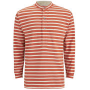 Nigel Cabourn Men's Grandad Armor Lux T-Shirt - Orange